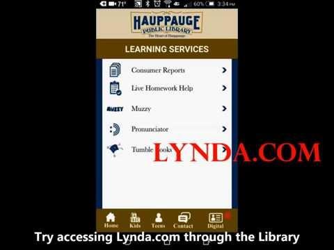 Hauppauge Library App Demo