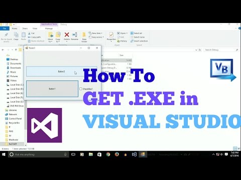 How To Find .EXE (portable app) in Visual Studio