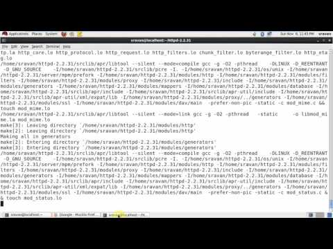 how to install Apache web server 2.2.31  (HTTPD Server) in Redhat linux