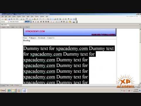 Web Designing in Urdu - Banner + Menu + Text