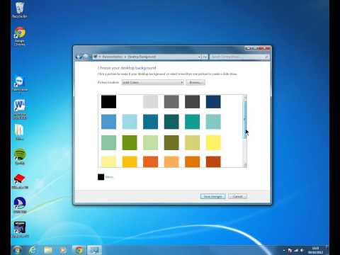 How to Change the Desktop Background in Windows 7