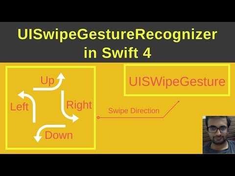UISwipeGesture in swift 4 (UISwipeGestureRecognizer)