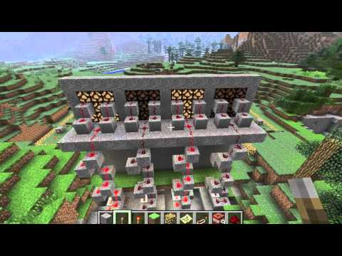 How to build a calculator with logic gates in Minecraft [Demo for MITx 6002x course]