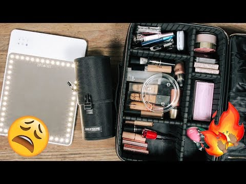PACK WITH ME: MY TRAVEL MAKEUP | DESI PERKINS