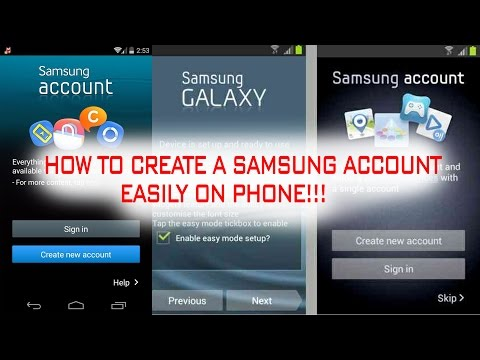 ☀How to Create a Samsung Account☀ [Easily on Phone-2017]