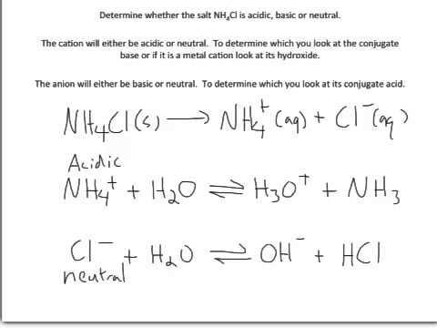 Salts - acidic basic or neutral 1