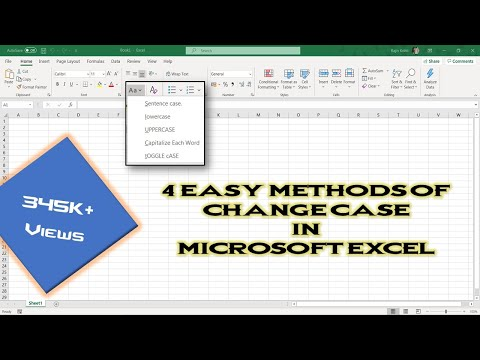 How To Change Case of Text | Microsoft Excel 2016 Tutorial | The Teacher