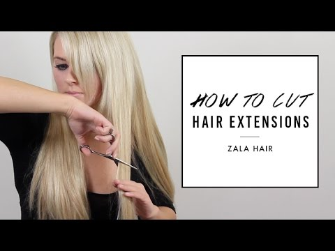How to Cut Hair Extensions to Blend | ZALA Hair