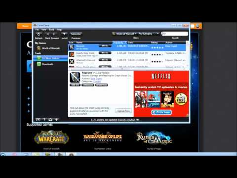 How to Download and Install AddOns for World Of Warcraft with [Roxas]