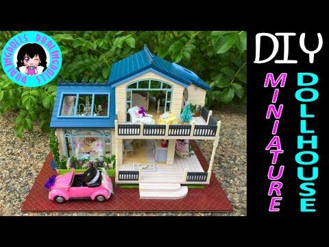 DIY Miniature Music & Lights Doll Full Dollhouse Kit ミニチュアドールハウス 소형 인형의 집