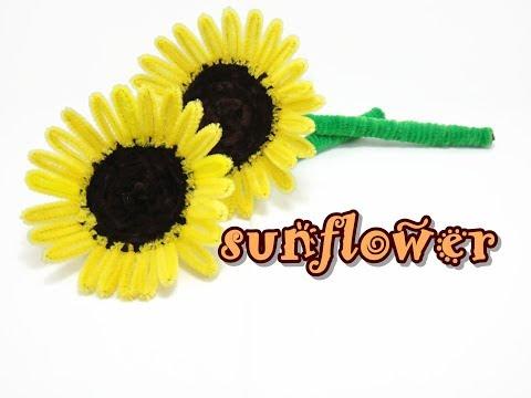 Chenille Stem / Pipe Cleaner Craft - Sunflower