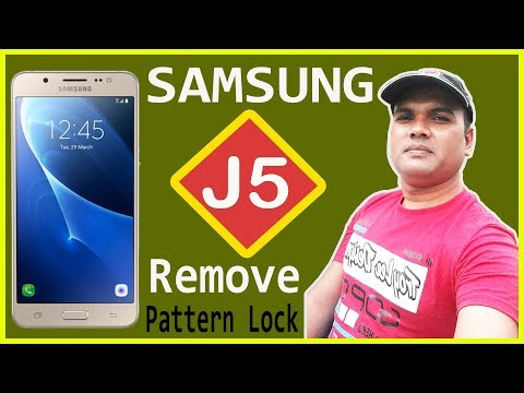 How to reset samsung J5 || Pattern lock remove