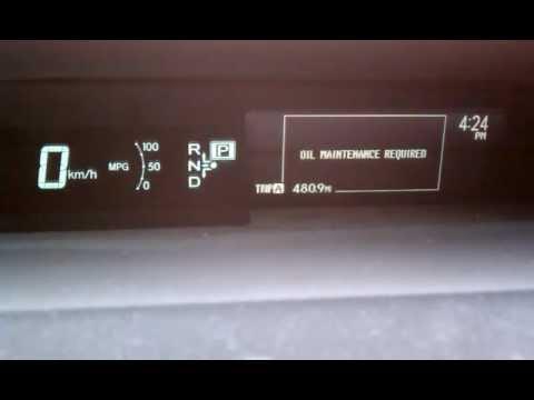 Toyota Prius 2010 Oil Light Reset