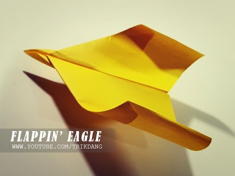 ACROBATIC PAPER AIRPLANE - How to make a paper airplane that Flies like a Bird | Flappin' Eagle