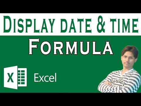 How To Display Current Date & Time In Excel Tutorial In Urdu or Hindi