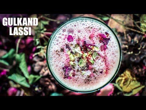 Gulkand Lassi Recipe | How To Make Rose Lassi | Holi Drink Recipe