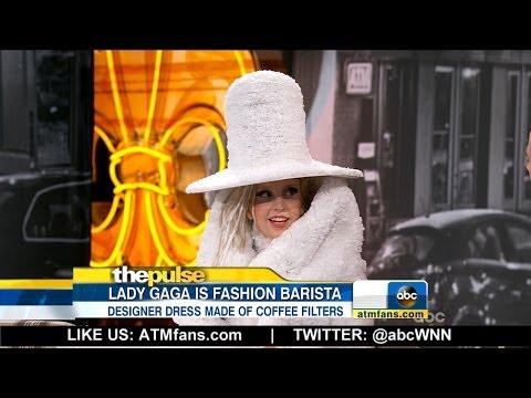 Lady Gaga Wears Coffee Filter Dress