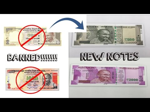 500 And 1000 Rupees Notes Banned