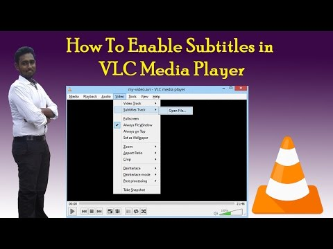 How to enable subtitles in vlc media player