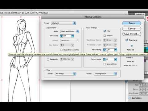 How to Turn a Hand Sketch into Vector Graphics Using Illustrator's CS5 Live Trace