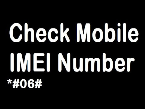 How to check Mobile IMEI Number in 10 Seconds