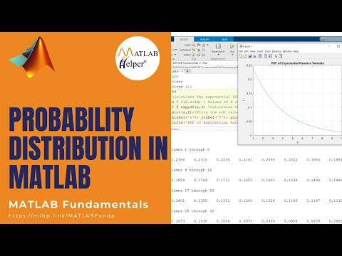 Probability Distribution in MATLAB | MATLAB Tutorial