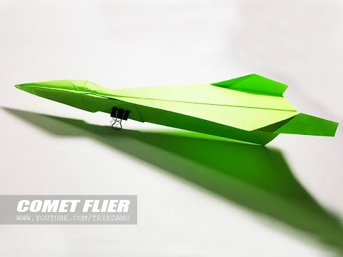 LONG DISTANCE PAPER AIRPLANE - How to make a paper airplane that FLIES FAR   Comet