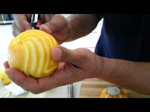 More orange / lemon designs with the Casa Peeler