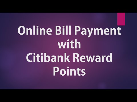 Online Bill Payment using Citibank Reward Points