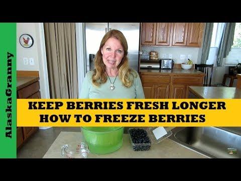 How To Keep Berries Fresh,  How To Freeze Berries
