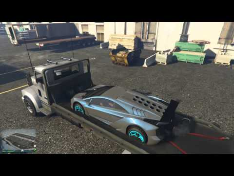 ► GRAND THEFT AUTO V - PUT A CAR ON A FLATBED!