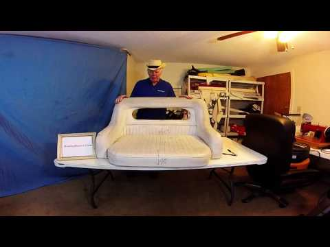 Boat Upholstery Center Console Seat Redo  Chap 51 Part 1