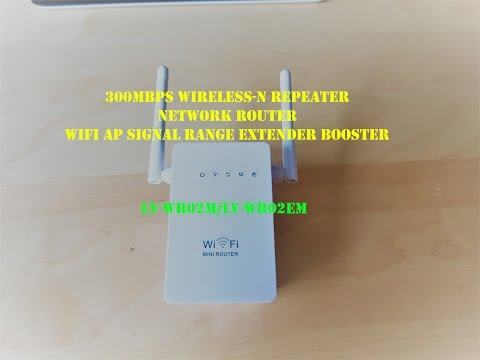 300Mbps Wireless-N Repeater Network Router WiFi AP Signal Range Extender Booster -  unbox rewies