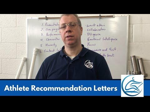 Writing College Recommendation Letters For A Student Athletes - Rowing Coaching