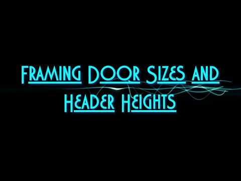 Framing Basement Door Openings and Headers Heights
