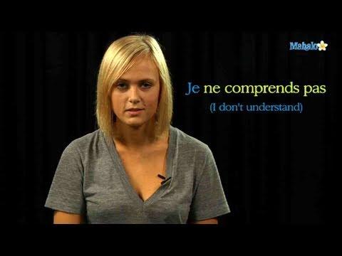 How to Say I Don't Understand in French