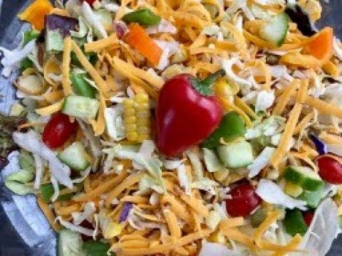 Delicious Crispy Salad with Sharp Cheddar Cheese  with Raihana's Cuisines