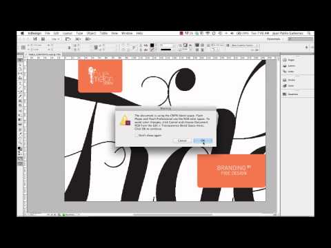 How to create a SWF File from InDesign CS6