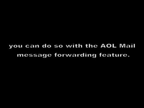How to Transfer a Saved Email in AOL