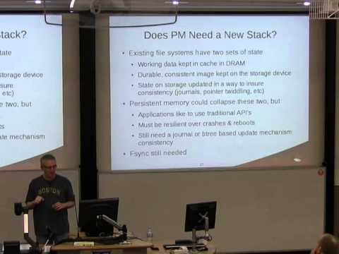 File Systems and Persistent Memory: Why We Won't Change as Fast as We Should [linux.conf.au 2014]