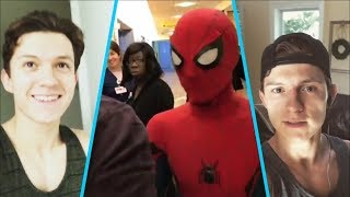 Spider-Man (Tom Holland) funny moments - Behind the Scenes  2017😀