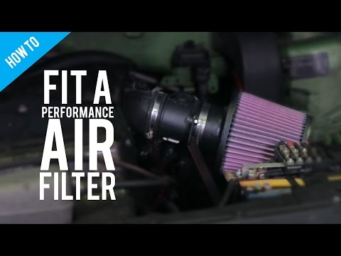 How to fit a performance air filter.