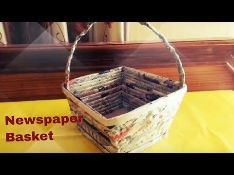 How to make newspaper basket | DIY easy handmade basket made of recycled newspaper | tutorial