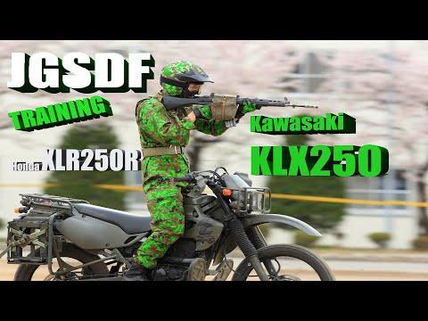 Japanese Motorcycle Special Teams At Training with Kawasaki KLX250