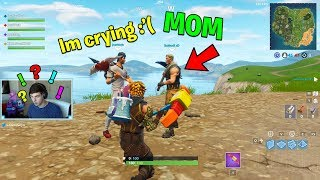 He CRIED after HIS MOM STOPPED ME from buying Him Tier 100 Battle Pass.. (Fortnite Battle Royale)