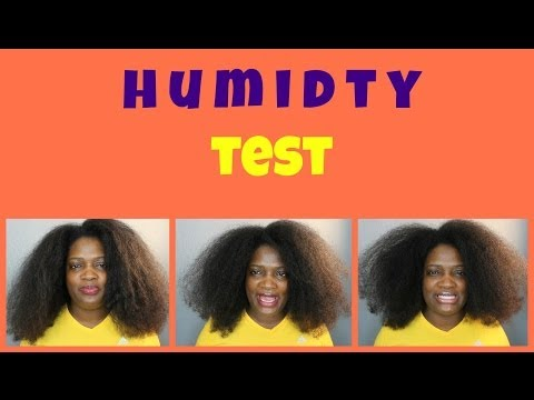 HUMIDITY TEST ON NATURAL HAIR | NeziNapps