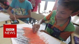 The children drawing Syrian war memories - BBC News
