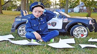 The missing homework and the silly cops epic funny kids video