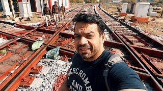 Cops caught me, Only Double Diamond Railway crossing in India !!