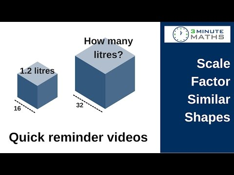 How to work with scale factor - volume of mathematically similar shapes